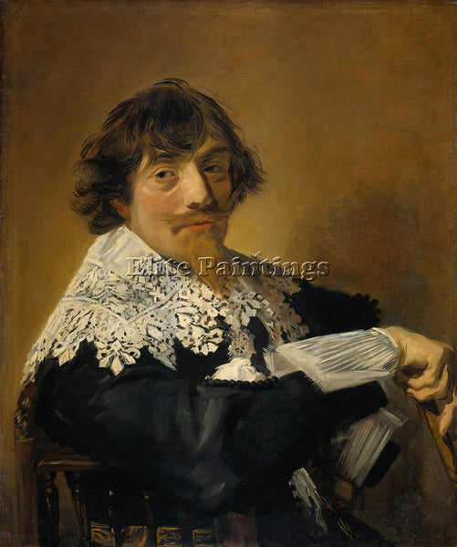 FRANS HALS PORTRAIT OF A MAN POSSIBLY NICOLAES HASSELAER ARTIST PAINTING CANVAS