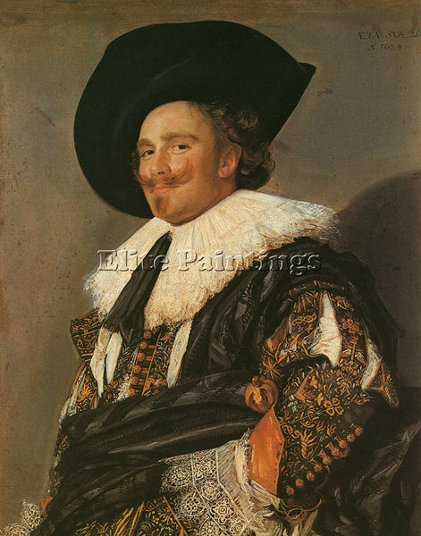 FRANS HALS THE LAUGHING CAVALIER 1624 ARTIST PAINTING REPRODUCTION HANDMADE OIL