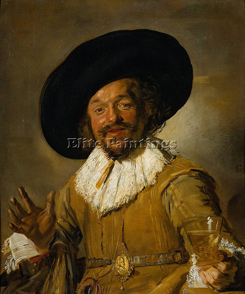 FRANS HALS MERRY DRINKER ARTIST PAINTING REPRODUCTION HANDMADE CANVAS REPRO WALL