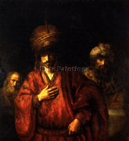 REMBRANDT HAMAN IN DISGRACE ARTIST PAINTING REPRODUCTION HANDMADE OIL CANVAS ART