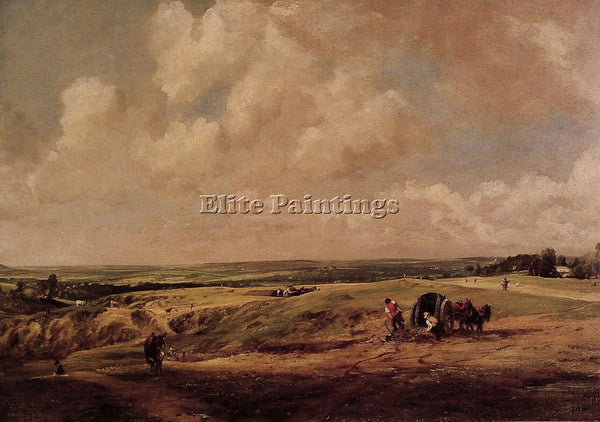 JOHN CONSTABLE HAMPSTEAD HEATH ARTIST PAINTING REPRODUCTION HANDMADE OIL CANVAS