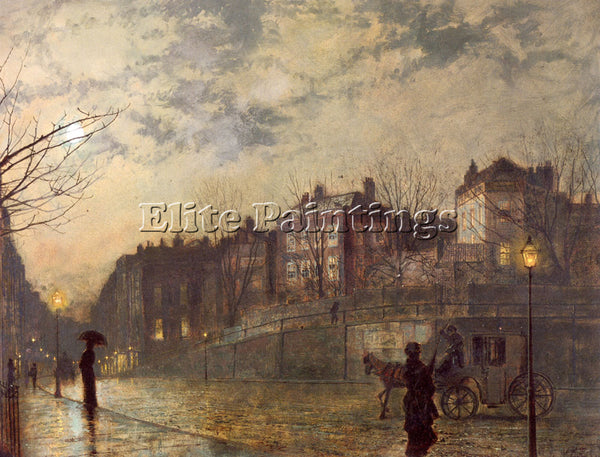 JOHN ATKINSON GRIMSHAW HAMPSTEAD ARTIST PAINTING REPRODUCTION HANDMADE OIL REPRO