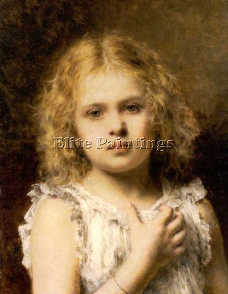 ALEXEI ALEXEIVICH HARLAMOFF A YOUNG BEAUTY ARTIST PAINTING REPRODUCTION HANDMADE