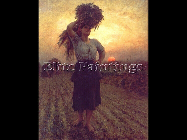 JULES BRETON HARVESTERS ARTIST PAINTING REPRODUCTION HANDMADE CANVAS REPRO WALL