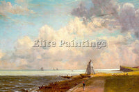 JOHN CONSTABLE HARWICH LIGHTHOUSE ARTIST PAINTING REPRODUCTION HANDMADE OIL DECO
