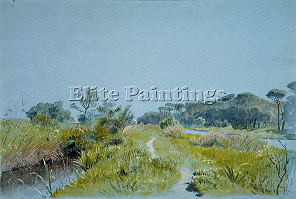 WILLIAM STANLEY HASELTINE CASTEL FUSANO ARTIST PAINTING REPRODUCTION HANDMADE