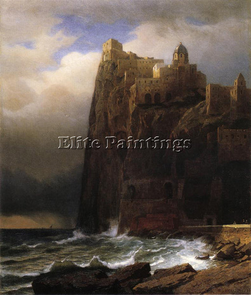 WILLIAM STANLEY HASELTINE COASTAL CLIFFS AKA ISCHIA ARTIST PAINTING REPRODUCTION
