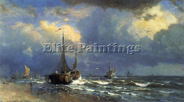 WILLIAM STANLEY HASELTINE DUTCH COAST ARTIST PAINTING REPRODUCTION HANDMADE OIL
