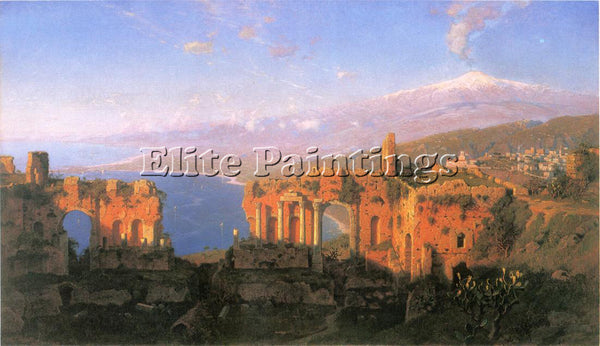 WILLIAM STANLEY HASELTINE GREEK THEATER AT TAORMINA ARTIST PAINTING REPRODUCTION