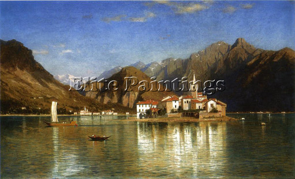 WILLIAM STANLEY HASELTINE LAGO MAGGIORE ARTIST PAINTING REPRODUCTION HANDMADE