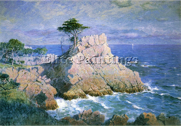 STANLEY HASELTINE MIDWAY POINT CALIFORNIA AKA CYPRESS POINT NEAR MONTEREY CANVAS