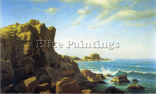 WILLIAM STANLEY HASELTINE NAHANT ROCKS ARTIST PAINTING REPRODUCTION HANDMADE OIL