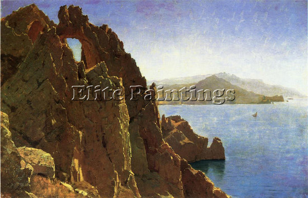 WILLIAM STANLEY HASELTINE NATAURAL ARCH CAPRI ARTIST PAINTING REPRODUCTION OIL
