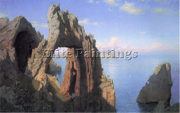 WILLIAM STANLEY HASELTINE NATURAL ARCH AT CAPRI ARTIST PAINTING REPRODUCTION OIL