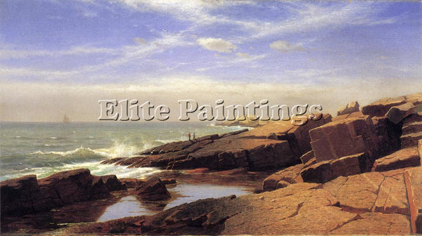 WILLIAM STANLEY HASELTINE ROCKS AT NAHANT2 ARTIST PAINTING REPRODUCTION HANDMADE