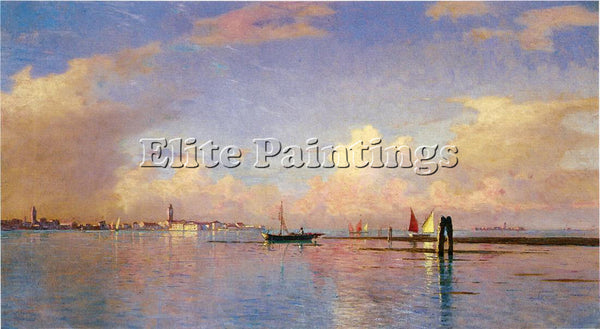 WILLIAM STANLEY HASELTINE SUNSET ON THE GRAND CANAL VENICE ARTIST PAINTING REPRO