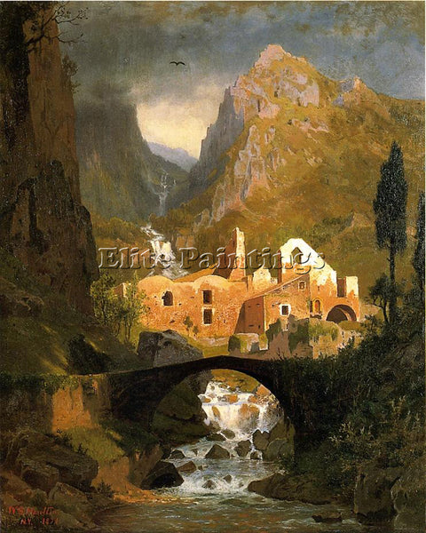 WILLIAM STANLEY HASELTINE VALLE DEI MOLINI AMALFI ARTIST PAINTING REPRODUCTION