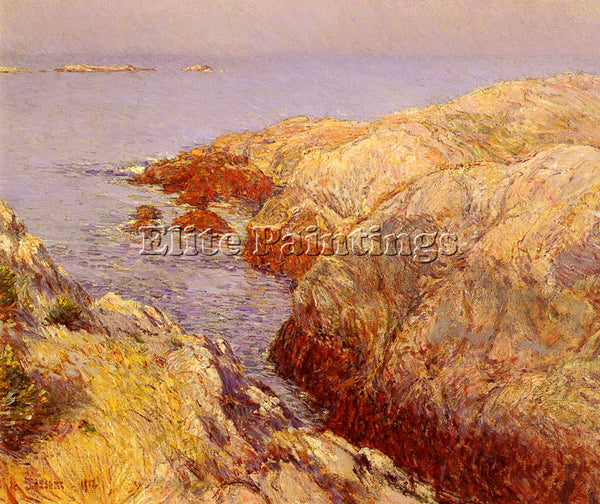 CHILDE HASSAM HASSAN CHILDE ISLES OF SHOALS ARTIST PAINTING HANDMADE OIL CANVAS