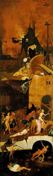 HIERONYMUS BOSCH HAYWAIN RIGHT WING OF THE TRIPTYCH ARTIST PAINTING REPRODUCTION