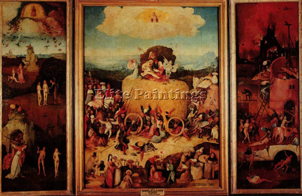 HIERONYMUS BOSCH HAYWAIN ARTIST PAINTING REPRODUCTION HANDMADE CANVAS REPRO WALL