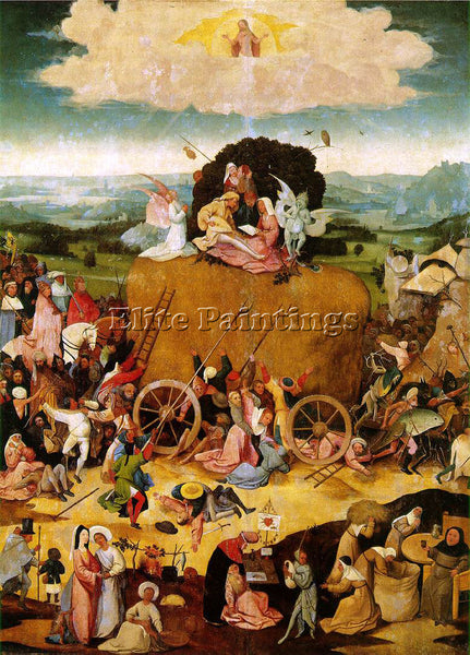 HIERONYMUS BOSCH HAYWAIN CENTRAL PANEL OF THE TRIPTYCH ARTIST PAINTING HANDMADE