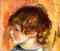 RENOIR HEAD OF A YOUNG GIRL ARTIST PAINTING REPRODUCTION HANDMADE OIL CANVAS ART