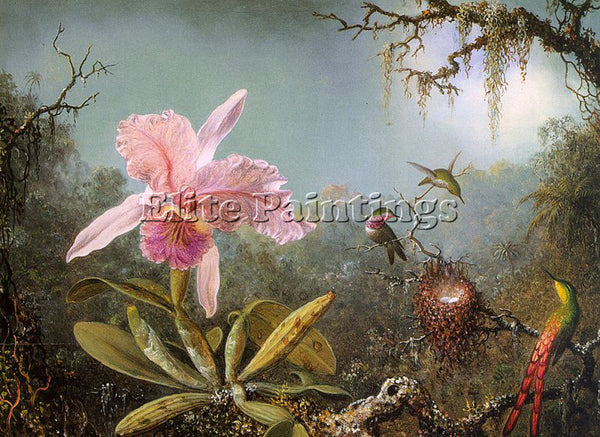 AMERICAN HEADE MARTIN JOHNSON AMERICAN 1819 1904 3 ARTIST PAINTING REPRODUCTION