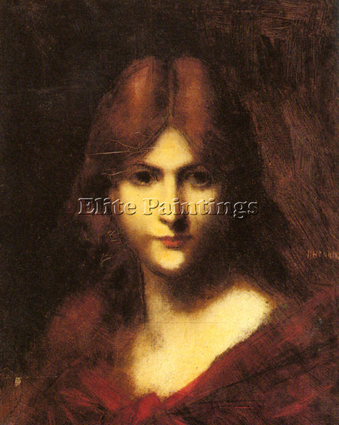 JEAN-JACQUES HENNER  A RED HAIRED BEAUTY ARTIST PAINTING REPRODUCTION HANDMADE