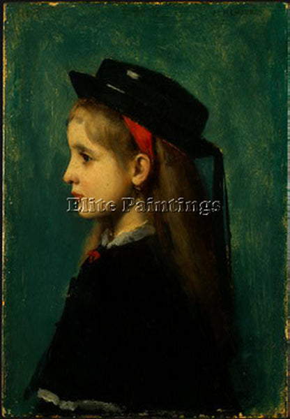 JEAN-JACQUES HENNER  ALSATIAN GIRL ARTIST PAINTING REPRODUCTION HANDMADE OIL ART