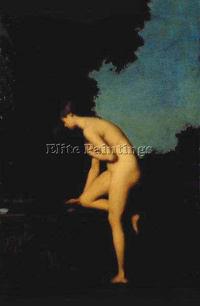 JEAN-JACQUES HENNER  LA FONTAINE ARTIST PAINTING REPRODUCTION HANDMADE OIL REPRO
