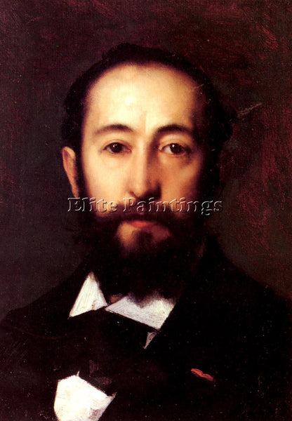 JEAN-JACQUES HENNER  PORTRAIT D HOMME ARTIST PAINTING REPRODUCTION HANDMADE OIL