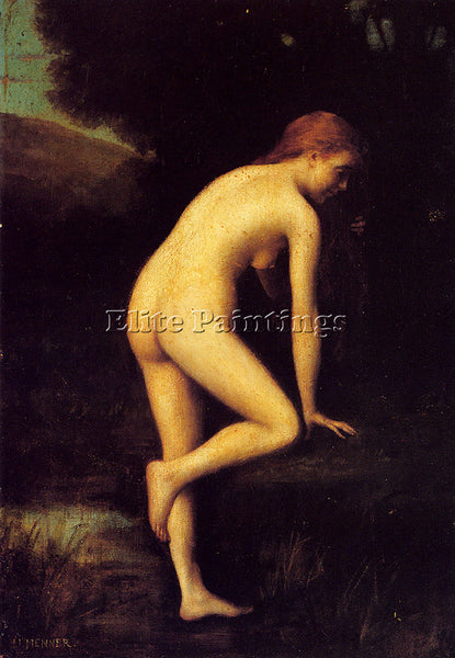 JEAN-JACQUES HENNER  THE BATHER ARTIST PAINTING REPRODUCTION HANDMADE OIL CANVAS