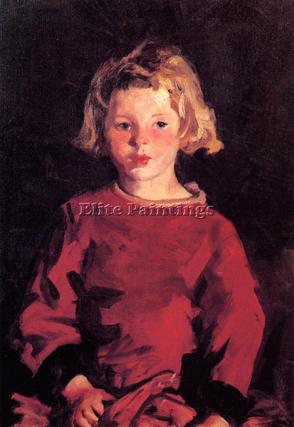 ROBERT HENRI BRIDGET IN RED ARTIST PAINTING REPRODUCTION HANDMADE OIL CANVAS ART