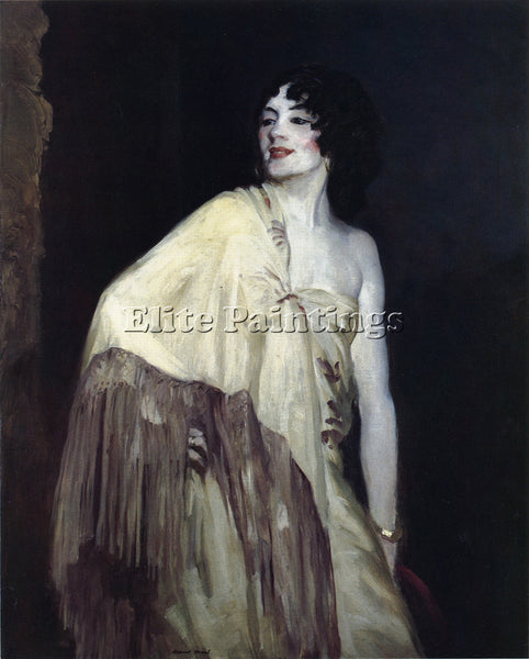 ROBERT HENRI DANCER IN A YELLOW SHAWL ARTIST PAINTING REPRODUCTION HANDMADE OIL