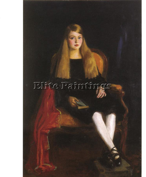 ROBERT HENRI PORTRAIT OF ANNE M TUCKER ARTIST PAINTING REPRODUCTION HANDMADE OIL