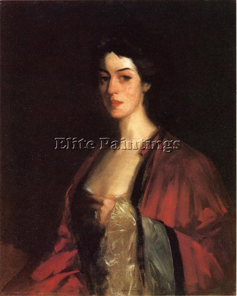 ROBERT HENRI PORTRAIT OF KATHERINE CECIL SANFORD ARTIST PAINTING HANDMADE CANVAS