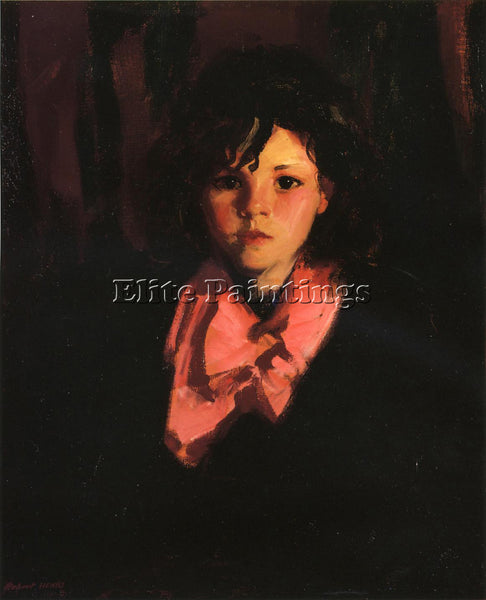 ROBERT HENRI PORTRAIT OF MARY ANN ARTIST PAINTING REPRODUCTION HANDMADE OIL DECO