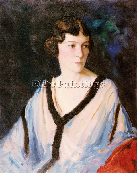 ROBERT HENRI PORTRAIT OF MRS EDWARD H BENNETT ARTIST PAINTING REPRODUCTION OIL