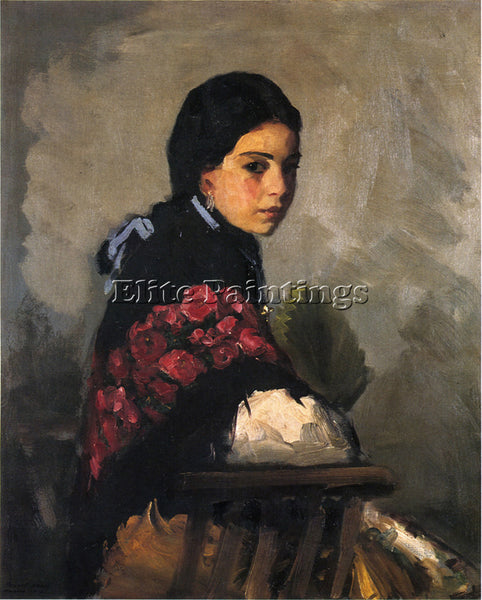 ROBERT HENRI SPANISH GIRL ARTIST PAINTING REPRODUCTION HANDMADE OIL CANVAS REPRO