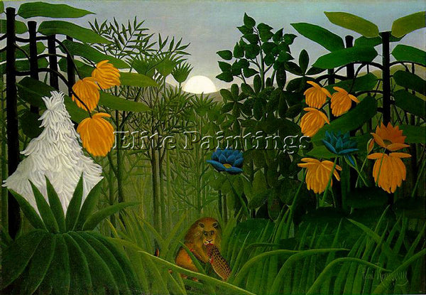 HENRI ROUSSEAU ROUSS39 ARTIST PAINTING REPRODUCTION HANDMADE CANVAS REPRO WALL