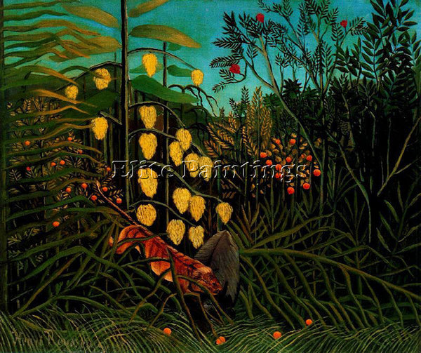 HENRI ROUSSEAU ROUSS41 ARTIST PAINTING REPRODUCTION HANDMADE CANVAS REPRO WALL