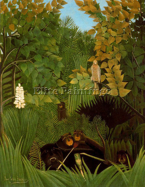 HENRI ROUSSEAU ROUSS45 ARTIST PAINTING REPRODUCTION HANDMADE CANVAS REPRO WALL