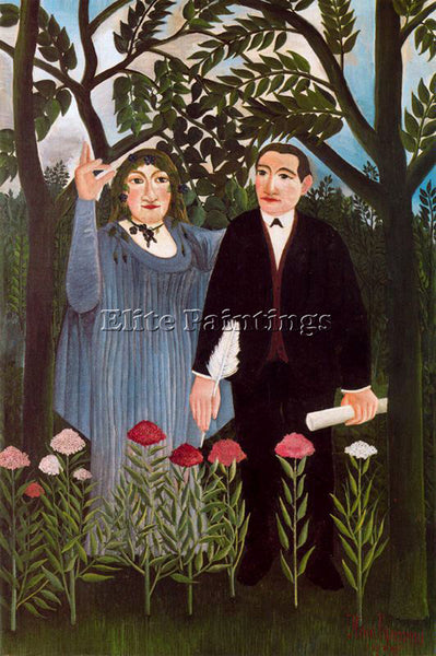 HENRI ROUSSEAU ROUSS47 ARTIST PAINTING REPRODUCTION HANDMADE CANVAS REPRO WALL