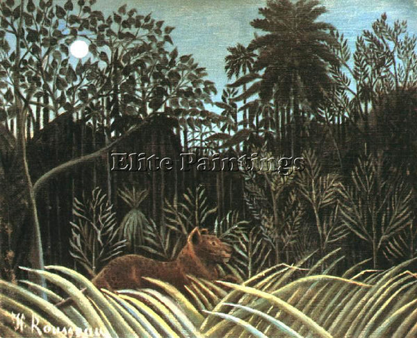 HENRI ROUSSEAU ROUSS50 ARTIST PAINTING REPRODUCTION HANDMADE CANVAS REPRO WALL