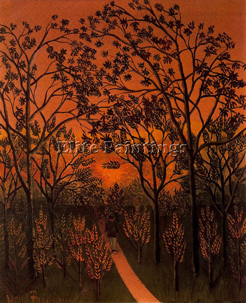 HENRI ROUSSEAU ROUSS52 ARTIST PAINTING REPRODUCTION HANDMADE CANVAS REPRO WALL