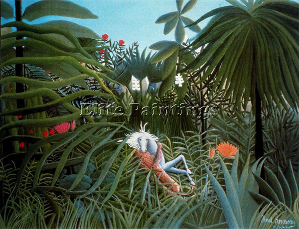 HENRI ROUSSEAU ROUSS53 ARTIST PAINTING REPRODUCTION HANDMADE CANVAS REPRO WALL