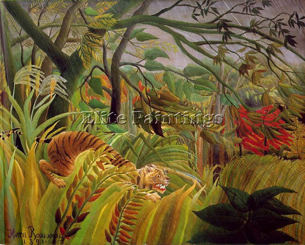 HENRI ROUSSEAU ROUSS54 ARTIST PAINTING REPRODUCTION HANDMADE CANVAS REPRO WALL