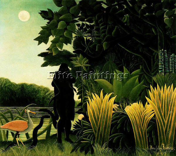 HENRI ROUSSEAU ROUSS55 ARTIST PAINTING REPRODUCTION HANDMADE CANVAS REPRO WALL