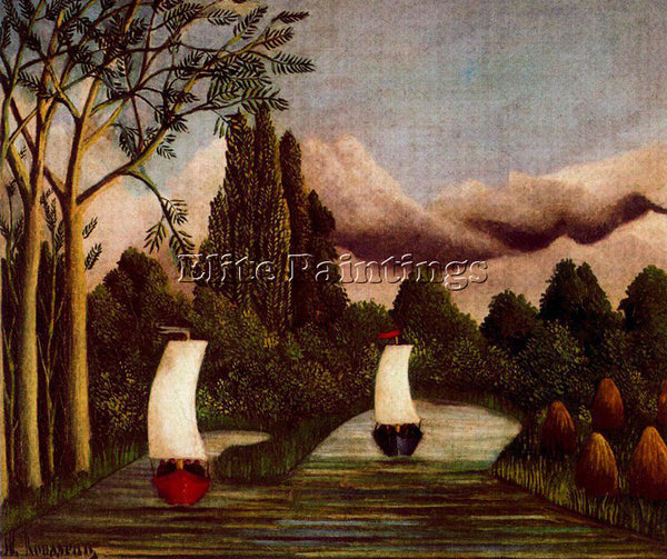 HENRI ROUSSEAU ROUSS61 ARTIST PAINTING REPRODUCTION HANDMADE CANVAS REPRO WALL