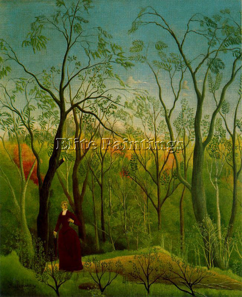 HENRI ROUSSEAU ROUSS64 ARTIST PAINTING REPRODUCTION HANDMADE CANVAS REPRO WALL